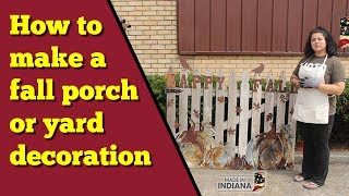 How to make this cute fall porch or yard decoration.