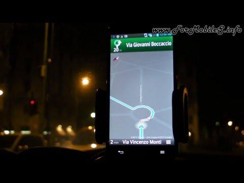 LG Optimus G Pro - Demo navigazione GPS in auto