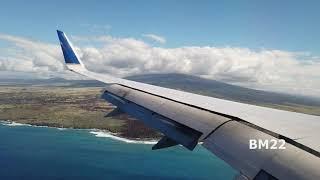 Landing at Kona International Airport Hawaii the Big Island
