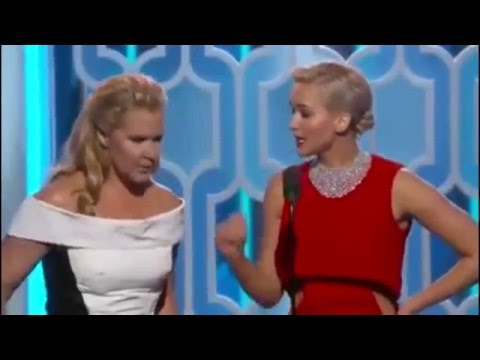 Jennifer Lawrence and Amy Schumer Hilarious at the Golden Globes 2016