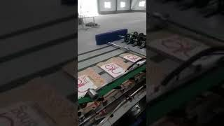 Automatic bag cutting & stitching machine with twist gusseting
