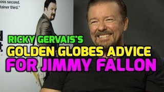 Ricky Gervais Gives Jimmy Fallon Tips For Hosting 2017 Golden Globes Awards
