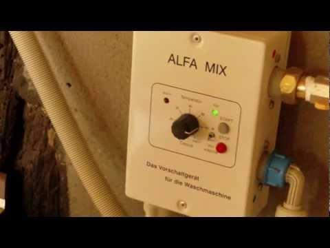 energiesparendes Waschmaschinenvorschaltgerät Alfa Mix.MP4