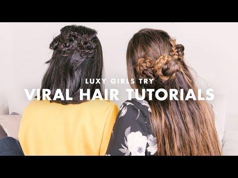 Viral Hair Tutorials (Instagram & Pinterest) | Luxy Girls Try