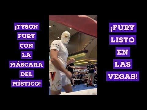 ¡Tyson Fury con la máscara del Místico! #FuryWallin