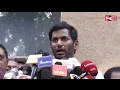 Vishal Speech after Nominations as Presidential Candidate for TFPC | Tam...