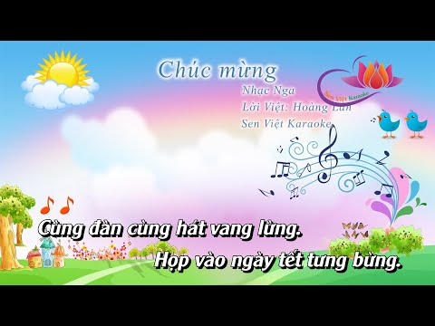 Nhạc bài hát Chúc mừng- lớp 4