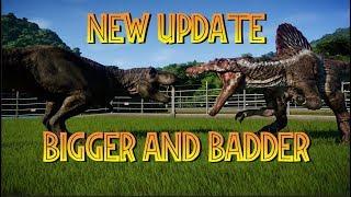 New Carnivore Sizes! Jurassic World Evolution Update 1.4 New Dinosaur Size Comparisons