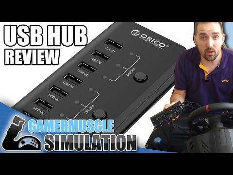 ORICO High Speed 9 Port USB Data Hub – REVIEW – USB HUB FOR SIMULATORS