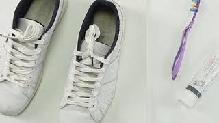 Как вернуть белизну кроссовкам? #лайфхак от «Самой полезной программы»