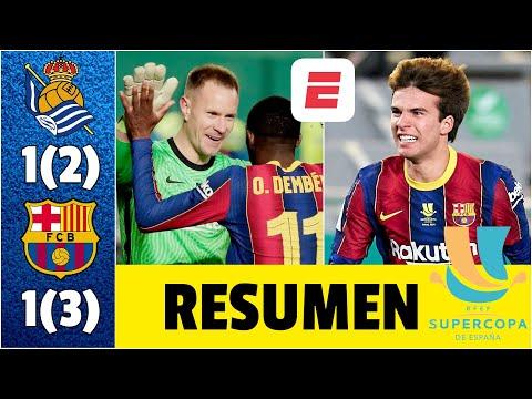 Real Sociedad vs Barcelona. Ter Stegen FIGURA. Barça, sin Messi, a la final | Supercopa de España