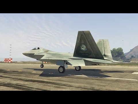 GTA V F-22 Raptor With Openable Weapon Bays [BETA] ( Stealth Jet MOD)