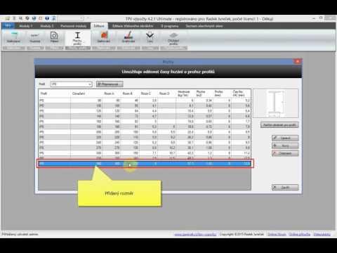 Editace a přidání profilů