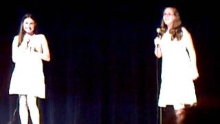 """Sierra and Emily singing """"This One's for the girls"""""""