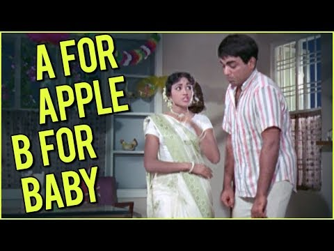 A For Apple B For Baby Full Video Song | Sadhu Aur Shaitaan Movie Songs | Manna Dey | Asha Bhosle