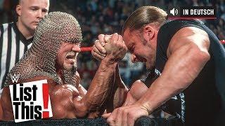 Die 5 intensivsten Arm-Wrestling-Matches - WWE List This! (DEUTSCH)