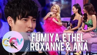 Ethel, Roxanne and Ana talk about the food they would serve to Fumiya | GGV