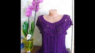 "Платье ""Леонора"" (по мотивам Ванессы Монторо)  // Knit crochet dress"