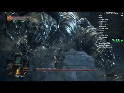 Dark Souls III Chaos Blade All Bosses speedrun