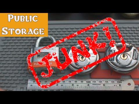 (60) Public Storage Area Padlocks – AVOID THEM!!!