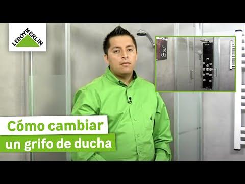Cambiar un grifo de ducha por una columna de hidromasaje (Leroy Merlin)