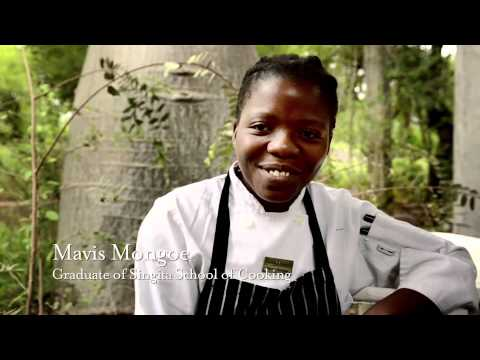 The Singita School of Cooking is located at the staff village that serves the Singita Kruger National Park lodges. It was established to develop culinary skills amongst youth from the neighbouring communities. Each year, 8 - 10 students who meet the entrance criteria, including a real interest in cooking, are selected to participate in an 18-month long program which prepares them for a career as a professional chef.