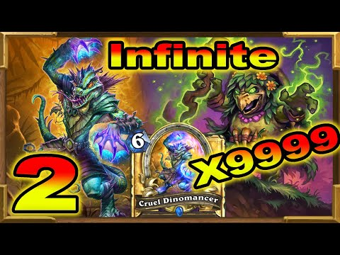 Hearthstone: Infinite 6 Mana 30/30 Permanent On The Board Part 2 | Dinomancer and Merchant | Wild