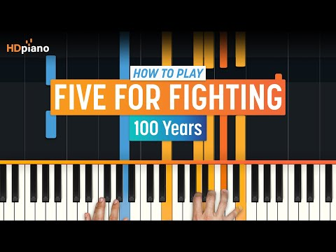 "How To Play ""100 Years"" By Five For Fighting On Piano With Synthesia & HDpiano (Part 1)"