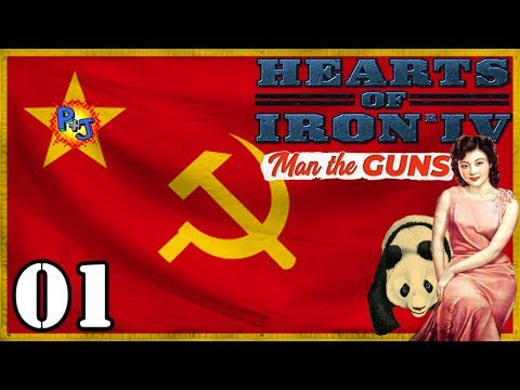 Let's Play Hearts of Iron 4 Communist China | HOI4 Man the Guns 1.7 Gameplay Episode 1
