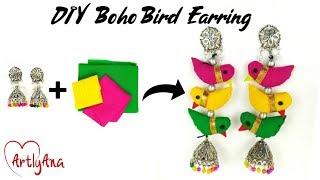 DIY Boho Earring | Bird Earrings
