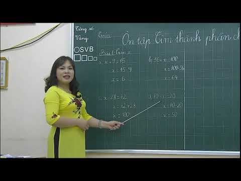 Toán 2 - Tìm thành phần chưa biết của phép tính - Bùi Minh Hằng - Trường TH Hồng Thái - Tuyên Quang