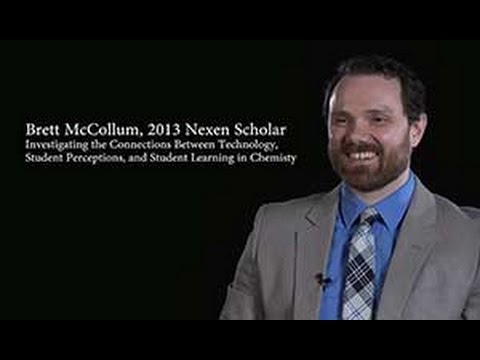 Brett McCollum, 2013 Nexen Scholar: Investigating the Connections Between Technology, Students