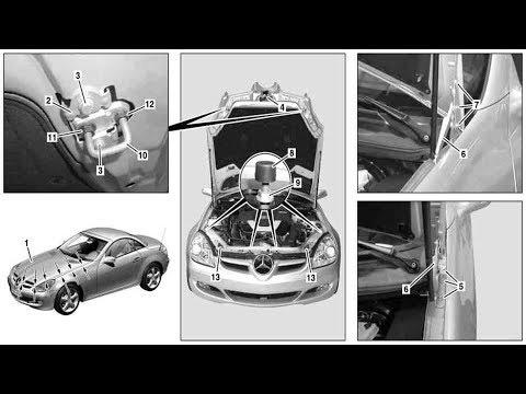 Adjust engine hood on SLK (280/300) R171.4