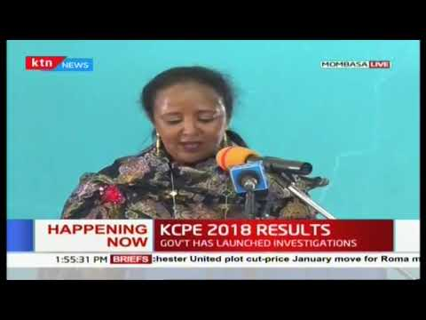 Full speech of CS Amina Mohamed releasing the #KCPE2018 results