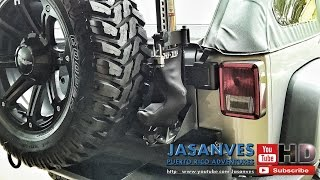 DIY How-To:  Rugged Ridge Hi Lift Jack Mount Base - Step by Step Installation on Jeep JK