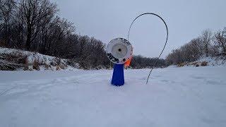 Зимняя рыбалка на щуку флажками