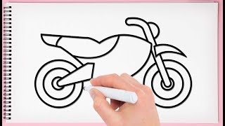 How To Draw Bike Step By Step Learn Drawing A Bike Very Easy And Simple For Kids