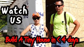 Couple Build a DIY Tiny House in Less Than 4 Days