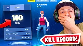 Reacting To My 100th Victory Royale! (My HIGHEST Kill Game)