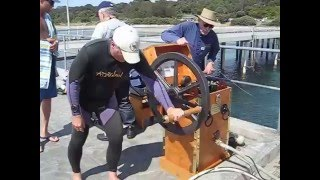 Antique Diving: First dive with the Greg's restored Heinke pump
