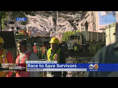 Crews Desperately Work To Save Quake Victims