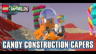 LEGO Worlds - Candy Construction Capers World - Copy / Build / Paint Tool Tutorial & Gameplay