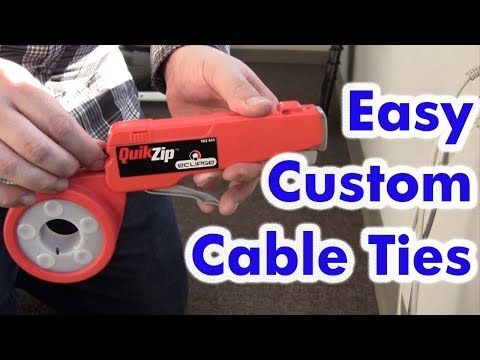 How to Make Easy Cable Ties - Cable Tie Gun - Quik Zip Eclipse Tool