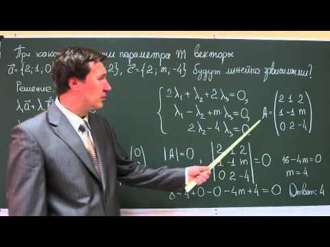 Линейная зависимость векторов