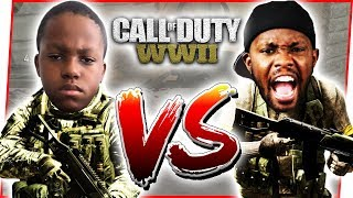 CRAP TALKING 1V1 W/ ANNOYING LITTLE BROTHER! - Call of Duty World War 2 Gameplay