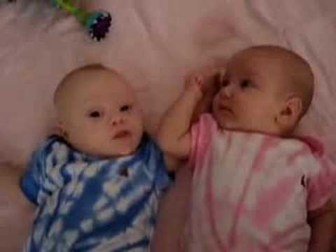 Watch video Down Syndrome Twins