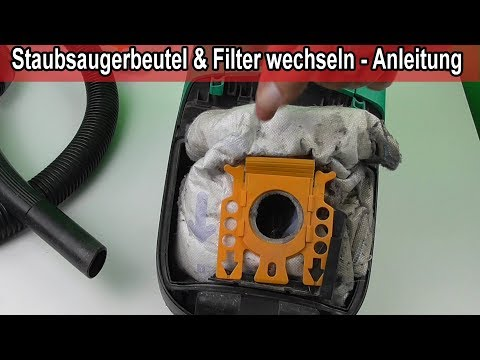 Staubsauger Beutel wechseln - Staubsaugerbeutel & Filter tauschen Anleitung