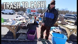 FLIPPING FREE ITEMS FOR CASH AT FLEA MARKET!