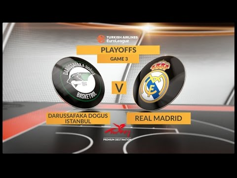 EuroLeague Highlights Playoffs 3: Darussafaka Dogus Istanbul 81-88 Real Madrid