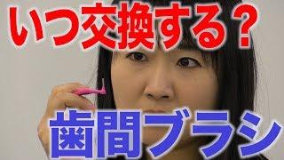 歯間ブラシの交換時期は?
